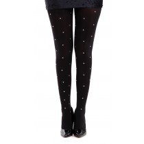 50 Denier Opaque Tights With Small Silver Studs