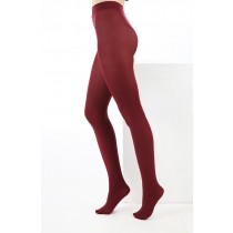 80 Denier Opaque Tights (Burgundy)