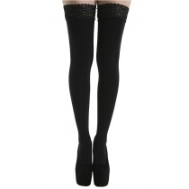 80 Denier Lace Top Hold Ups