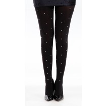 80 Denier Tights With Diamante Studs