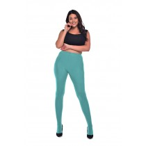 50 Denier Curvy Super-stretch Tights (Aqua Green)