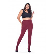 90 Denier Curvy Super-stretch Tights (Burgundy)