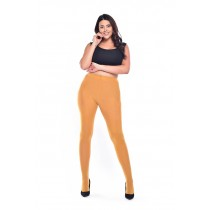 90 Denier Curvy Super-stretch Tights (Mustard)