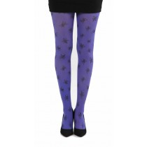 Skulls A Printed Tights (Flo Purple)