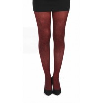 Webber B Printed Tights (Flo Red)-One Size
