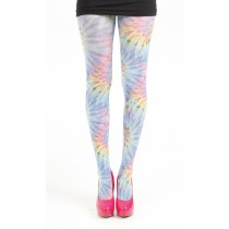 Colour Burst Printed Tights