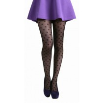 All Over Bow Tights Black