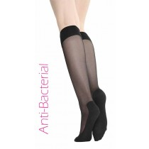Anti Bacterial Massager Knee High Socks (Black)