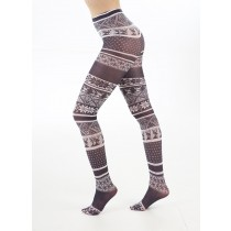 Fairisle Printed Tights Black & White