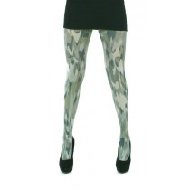 Camo Printed Tights (Green)