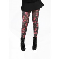 cherry print tights