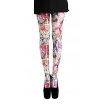 Comic Strip Printed Tights