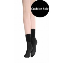 Cushion Sole Ankle Socks (Black)