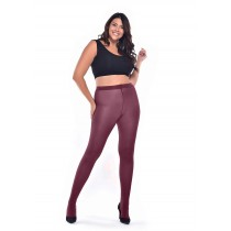 50 Denier Curvy Super-stretch Tights (Damson)