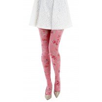 Ditsy Petite Pink Flower Printed Tights