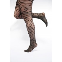 Zebra Pattern Curvy Super Stretch Tights