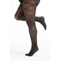 Floral Pattern Curvy Super Stretch Tights