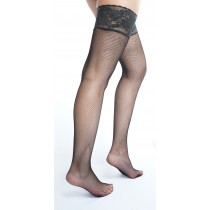 Luxury Fishnet Lace Top Hold Ups