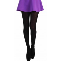 Fine Rib Tights (Black)