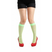 Fishnet Knee High Socks (Flo Green)
