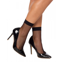 Fishnet Ankle Socks Black