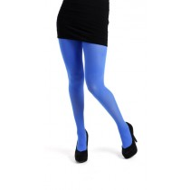 40 Denier Velvet Tights (Flo Blue)