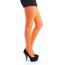 40 Denier Velvet Tights (Flo Orange)