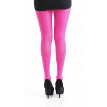 40 Denier Velvet Tights (Flo Pink)