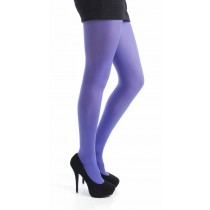 40 Denier Velvet Tights (Flo Purple)