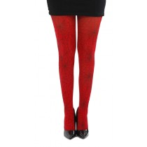 Webber A Printed Tights (Flo Red)-One Size