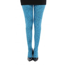 Webber A Printed Tights (Flo Turquoise)