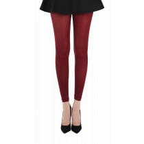 50 Denier Footless Tights (Burgundy)