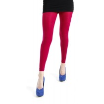 50 Denier Footless Tights Cerise