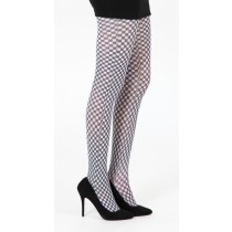 Gingham Check Printed Tights (Black/White)