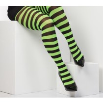 Striped hoop curvy super-stretch tights