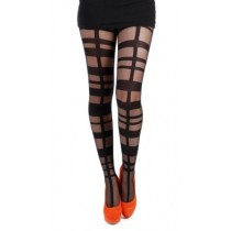 Grid Strapping Tights