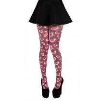 Heart Struck Printed Tights