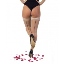 Jive Seamed Hold Ups (Nude/Black)