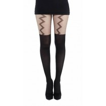 Lightening Suspender Tights (Black)
