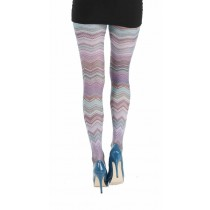 Mexican Waves Printed Tights