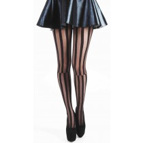 Mismatch Striped Tights (Black)