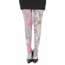 Paisley Riot Tights (Pink)