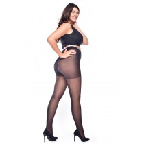 Jive Seamed Curvy Super-stretch Tights (Black/Black)