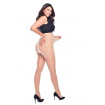 Jive Seamed Curvy Super-stretch Tights (Nude/Nude)