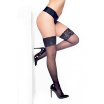 Lace Top Hold Ups Black (Black)