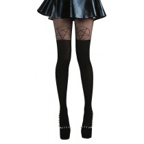 Pentagram Over The Knee Tights (Black)