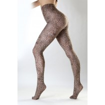 Petite Leopard Printed Tights (Natural)