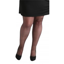 Plus Size 15 Denier Sheer Tights (Black)