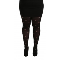 Plus Size Opaque Gothic Cross Tights (Black)