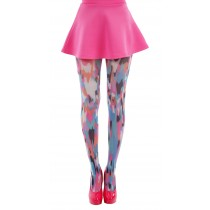 Powerful Pink Printed Tights